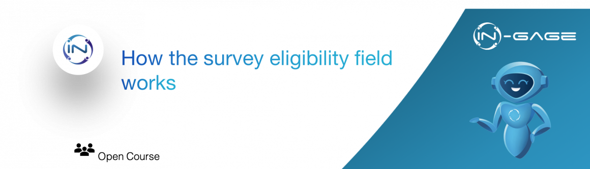 How the survey eligibility field works for NPS surveys